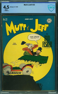 Mutt and Jeff #22 - CBCS CERTIFIED (DC, 1946) CGC VG+ 4.5 White pages