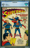 Superman #115 - CBCS CERTIFIED (DC, 1957) CGC VG+ 4.5 Off-white to white pages
