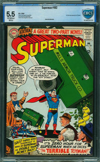 Superman #182 - CBCS CERTIFIED (DC, 1966) CGC FN- 5.5 Off-white to white pages