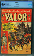 Golden Age (1938-1955):Adventure, Valor #1 - CBCS CERTIFIED (EC, 1955) CGC VG- 3.5 White pages.
