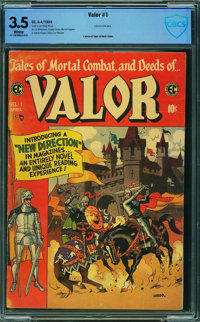 Valor #1 - CBCS CERTIFIED (EC, 1955) CGC VG- 3.5 White pages