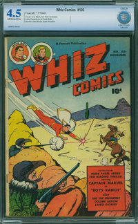 Whiz Comics #103 - CBCS CERTIFIED (Fawcett Publications, 1948) CGC VG+ 4.5 Off-white to white pages