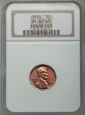 Proof Lincoln Cents, 1950 1C PR67 Red NGC. NGC Census: (75/0). PCGS Population: (60/0). Mintage 272,686,400....