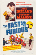 """Movie Posters:Action, The Fast and the Furious (American Releasing Corp., 1954). One Sheet (27"""" X 41""""). Action.. ..."""