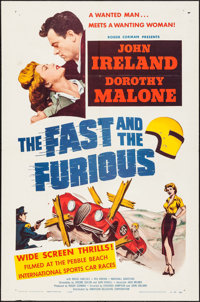 "The Fast and the Furious (American Releasing Corp., 1954). One Sheet (27"" X 41""). Action"