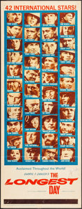 "Movie Posters:War, The Longest Day (20th Century Fox, 1962). Insert (14"" X 36""). War....."