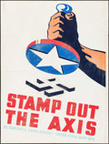 """Movie Posters:War, World War II Propaganda Poster (United States Navy WPA, 1941).Poster (31.75"""" X 40.5"""") """"Stamp Out the Axis."""" War.. ..."""