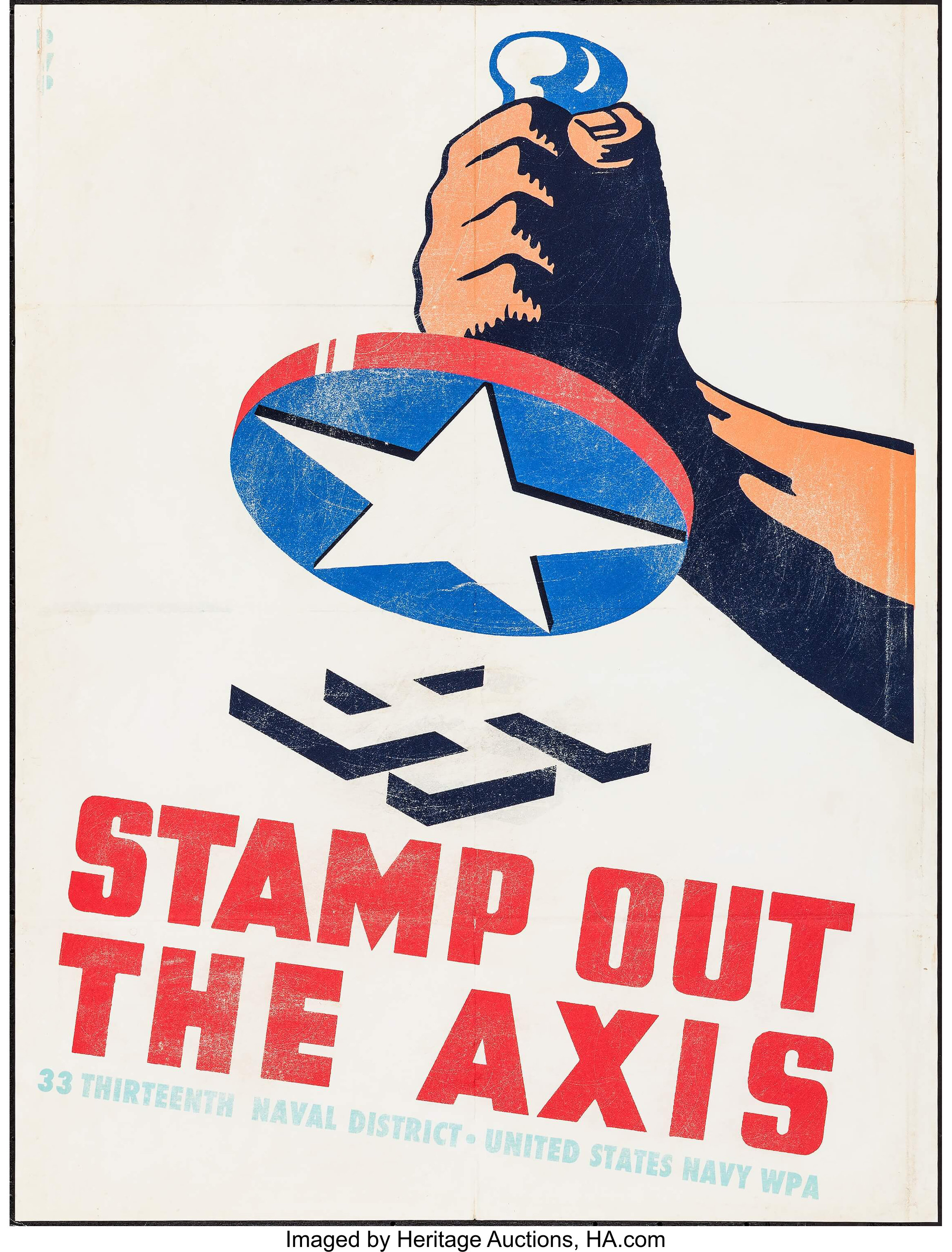 World War II Propaganda Poster (United States Navy WPA, 1941