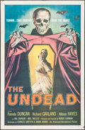 """Movie Posters:Horror, The Undead (American International, 1957). One Sheet (27"""" X 41""""). Horror.. ..."""