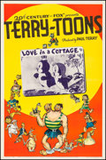 """Movie Posters:Animation, Terry-Toon Cartoons (20th Century Fox, 1940). Stock One Sheet (27""""X 41"""") """"Love in a Cottage."""" Animation.. ..."""