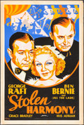"""Movie Posters:Crime, Stolen Harmony (Paramount, 1935). Silk Screen Poster (40"""" X 60"""").Crime.. ..."""