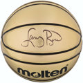 Basketball Collectibles:Balls, Larry Bird Signed Basketball. . ...