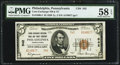 National Bank Notes:Pennsylvania, Philadelphia, PA - $5 1929 Ty. 2 The Corn Exchange NB & TC Ch.# 542. ...