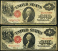Large Size:Legal Tender Notes, $1 1917 Legal Tenders Two Examples. Fr. 36;