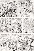 Original Comic Art:Panel Pages, Jack Kirby and Joe Sinnott Fantastic Four #100 Story Page 17Original Art (Marvel, 1970)....