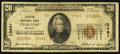 National Bank Notes:Missouri, Clayton, MO - $20 1929 Ty. 2 Clayton NB Ch. # 13481. ...