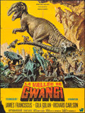 "Movie Posters:Science Fiction, The Valley of Gwangi (Warner Brothers, 1969). French Grande (45.5"" X 61""). Science Fiction.. ..."
