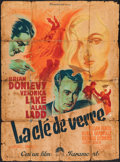 "Movie Posters:Crime, The Glass Key (Paramount, 1948). First Post War Release French Grande (46"" X 62""). Crime.. ..."