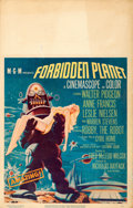 """Movie Posters:Science Fiction, Forbidden Planet (MGM, 1956). Window Card (14"""" X 2..."""