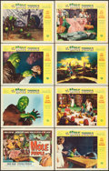 """Movie Posters:Science Fiction, The Mole People (Universal International, 1956). Lobby Card Set of8 (11"""" X 14"""").. ... (Total: 8 Items)"""