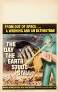 """Movie Posters:Science Fiction, The Day the Earth Stood Still (20th Century Fox, 1951). Window Card (14"""" X 22"""").. ..."""