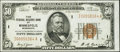 Fr. 1880-I $50 1929 Federal Reserve Bank Note. Extremely Fine