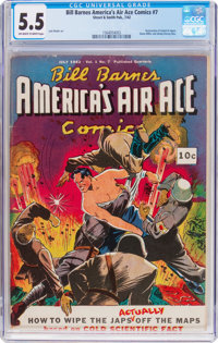 Bill Barnes America's Air Ace Comics #7 (Street & Smith, 1942) CGC FN- 5.5 Off-white to white pages