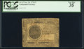 Continental Currency November 29, 1775 $7 PCGS Very Fine 35