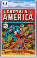 Golden Age (1938-1955):Superhero, Captain America Comics #19 (Timely, 1942) CGC FN+ 6.5 Cream to off-white pages....