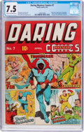 Golden Age (1938-1955):Superhero, Daring Mystery Comics #7 (Timely, 1941) CGC VF- 7.5 Cream to off-white pages....