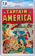Golden Age (1938-1955):Superhero, Captain America Comics #30 (Timely, 1943) CGC FN/VF 7.0 Off-white pages....