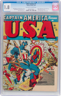 USA Comics #7 (Timely, 1943) CGC GD- 1.8 Off-white to white pages
