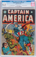 Golden Age (1938-1955):Superhero, Captain America Comics #17 (Timely, 1942) CGC VG+ 4.5 Off-white to white pages....