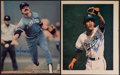 Baseball Collectibles:Photos, Kansas City Royals Greats Signed Photograph Pair (2) - Otis, &Quisenberry. . ...