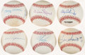 Autographs:Baseballs, Baseball Greats Single/Multi-Signed Baseballs Lot of 6.. ...