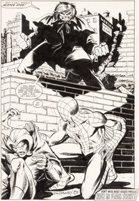 John Romita Jr. and Jim Mooney Amazing Spider-Man #231 Splash Page 22 Original Art (Marvel, 1982)