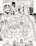 Original Comic Art:Panel Pages, Ron Lim and Joe Rubinstein Infinity Gauntlet #5 Story Page36 Thanos and Adam Warlock Origin...