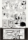 Original Comic Art:Panel Pages, Ron Lim and Joe Rubinstein Infinity Gauntlet #5 Story Page35 Thanos and Adam Warlock Original Art (Marvel, 1991)....