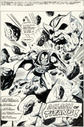 Original Comic Art:Splash Pages, Jeff Aclin and Bob Layton Planet of the Apes #85 Splash Page1 Drax the Destroyer Original Art (Marvel UK, 1976)....