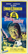 "Movie Posters:Crime, Black Tuesday (United Artists, 1955). Three Sheet (41"" X 79"").Crime.. ..."