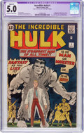 Silver Age (1956-1969):Superhero, The Incredible Hulk #1 (Marvel, 1962) CGC Apparent VG/FN 5.0Off-white to white pages....