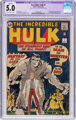 The Incredible Hulk #1 (Marvel, 1962) CGC Apparent VG/FN 5.0 Off-white to white pages
