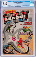 Silver Age (1956-1969):Superhero, The Brave and the Bold #28 Justice League of America (DC, 1960) CGCFN- 5.5 Off-white to white pages....