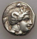 Ancients:Greek, Ancients: LUCANIA. Thurium. Ca. 400-350 BC. AR stater (7.75gm). VF....