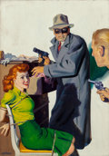 Other, Hugh Joseph Ward (American, 1909-1945). Somebody Stole My Gal, Private Detective pulp magazine cover, April 1944. Oil on...