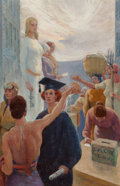 Mainstream Illustration, Pruett Alexander Carter (American, 1891-1955). Women's Vote.Oil on canvas. 23 x 15 in.. Signed lower right. ...