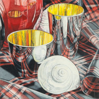 Jeanette Pasin Sloan (American, b. 1946) Two Cups with Shells, 1981 Colored pencil on paper 13 x