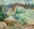 Fine Art - Painting, American:Modern  (1900 1949)  , Laura van Pappelendam (American, 1883-1974). Irrigation Ditch,New Mexico, 1920. Oil on canvas. 22-1/4 x 25-5/8 inches (...