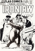 Original Comic Art:Covers, Neal Adams Ironjaw #2 Cover Original Art (Atlas/Seaboard, 1975)....