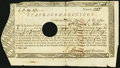 Colonial Notes:Connecticut, Connecticut Treasury Certificate £6.19s.4 1/4d June 1, 1780Anderson CT-18 Very Fine, HOC.. ...